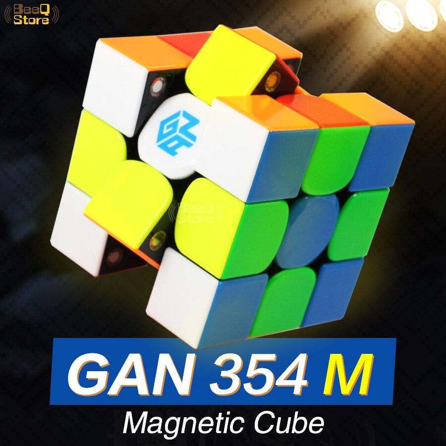 GAN354M 3x3 Vitesse Cube Magnétique 3x3x3 Cube Magique Gan 3*3 Gan354 M 354 m Aimant Professionnel Cubo Magico Puzzle Jouets Pour Enfants