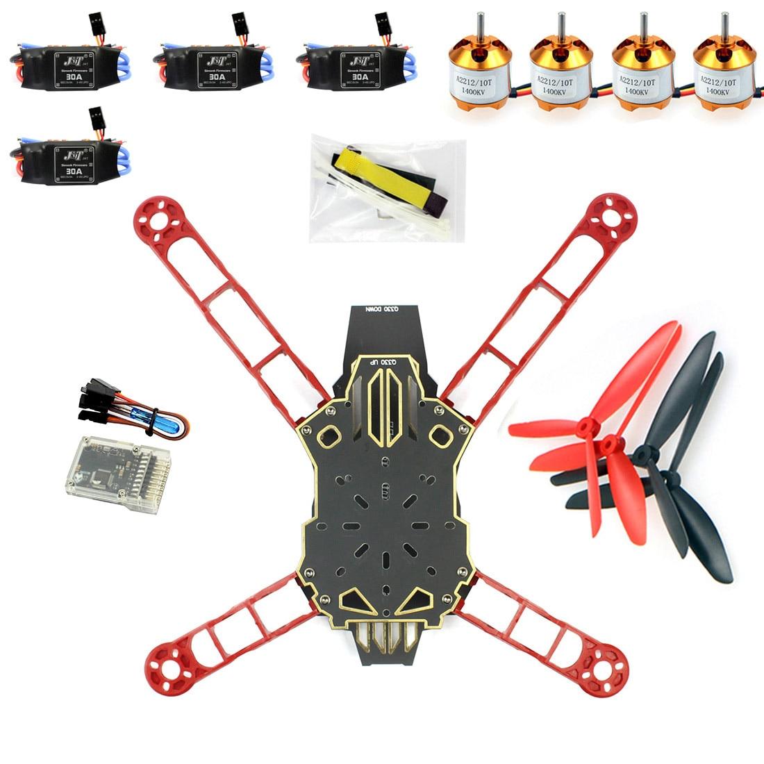 Q330 Across Frame QQ Super Controller 1400KV Motor 30A ESC Propeller Kit for DIY RC Drone Quadrocopter Aircraft F11797 H
