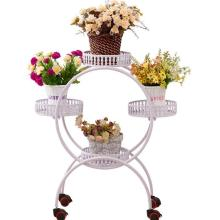 Shirley iron multi floor folding flower balcony European indoor green flower bt special offer flower shelf living room цены
