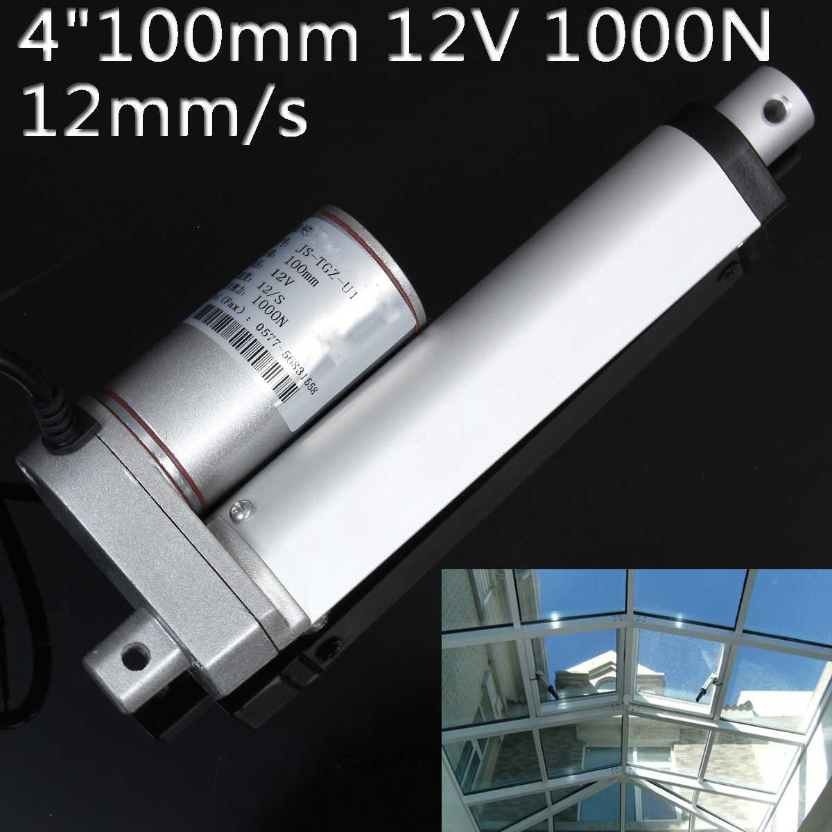 """Image 2 - DC 12V Electric Linear Actuator 1000N 50 500mm Stroke Linear Motor Controller 12mm/s Electric Bracket 2""""/4""""/6""""/8""""/16""""/20""""-in DC Motor from Home Improvement"""