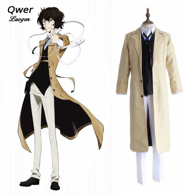 Anime Bungo Stray Dogs Osamu Dazai Uniform Full Set Cosplay Cos