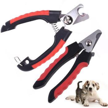 Pet Dog Cat profesjonalna obcinaczka do paznokci obcinacz ze stali nierdzewnej pielęgnacja zwierząt obcinacz do paznokci obcinacz do paznokci dla szczeniaczek Cat tanie i dobre opinie CN (pochodzenie) STAINLESS STEEL Nailclippers 11 5cm 4 5inch 15 5cm 6 04inch dog nail clippers clippers for cats cat nail cutter
