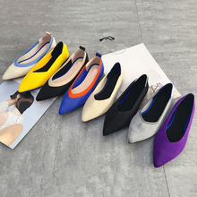 2019 Comfortable Cotton Fabric Fashion Flat Shoes Korean Summer Pointed Toe Women'S Shoes  Air Mesh Shallow Shoes New Arrival цена 2017