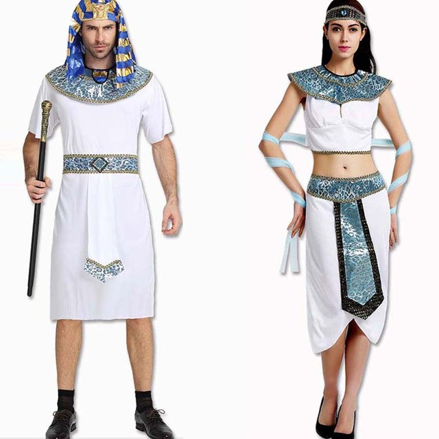 Adults Ancient Egypt White Pharaoh Costume For Men Male Cosplay