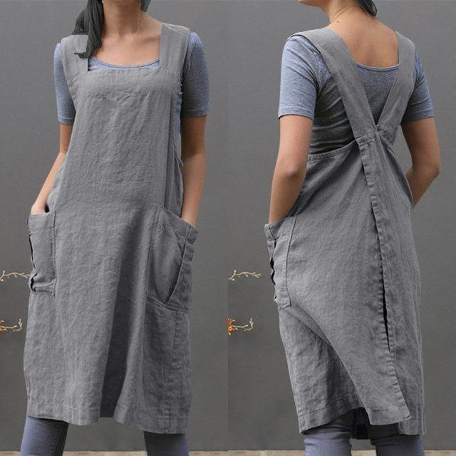 480e536abe 2019 ZANZEA Women Overalls Dress Summer Sleeveless Pockets Loose Solid  Cotton Linen Suspenders Vestido Ladies Casual