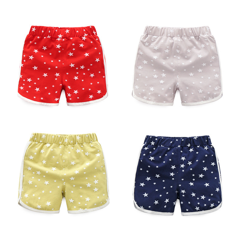 Fashion Stars Baby Cotton Soft Sports   Shorts   Summer Thin Kids Boys Girls Cute Pants Children Trousers
