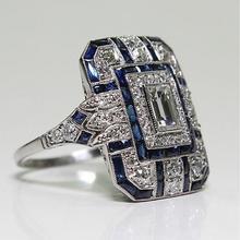 Fashion Jewelry Women Ring Stylish Elegant Gift Personalized Alloy Rhinestone