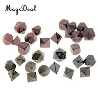 MagiDeal 28Piece/Set 15mm D4 D20 Polyhedral Dice for DND D&D RPG Player Toy