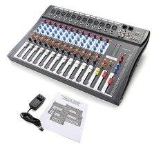 Tragbares Audio & Video Audio-mischpult W6000t12 Professionelle Mischer Audio-verstärker Sound Processor 12 Kanal