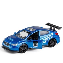 1:32 Scale High Imitation Alloy Model Sports Car Subaru STI Pull Back Retro Diecast Car Toys For Children Vehicle Dropshipping 1 18 diecast model for subaru subaru impreza wrc sti japanese police car alloy toy car collection gifts