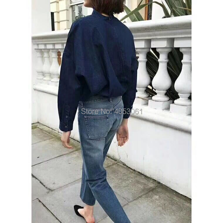 2018 Mujeres Azul Pantalones vintage Twist Pic light Pic Color Alta azul Oscuro Nueve Rectos Estilo Sólido dark gris Pic Claro Mujer Gama As Algodón Blue Oscuro De Pic Jeans Denim Black Grey qATPwt