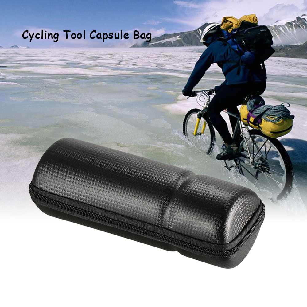 Waterproof Cycling Storage Box Carbon Fiber Leather
