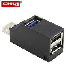 CHYI Wirele usb-концентратор 4 порта USB 3,0 концентратор портативный мини 2 порта USB 2,0 сплиттер адаптер для MacBook компьютер ноутбук ПК Аксессуары