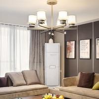 Современные хрустальные E27 подвесной светильник светодиодный железная Подвесная лампа для спальни Гостиная Ресторан Кофе освещение Кухня