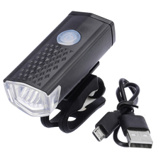 1Pcs Bike Front Light 600LM 3 Mode LED Mountain Bicycle USB Rechargeable Cycling For Night Riding