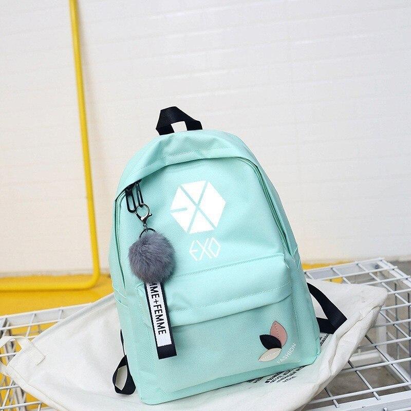 Mochila exo got7 mochilas monsta x quero um kpop k pop mulher duas vezes mochila escolar para adolescente k-pop menina sac a dos