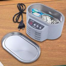 Exquisite Stainless Steel Ultrasonic Cleaner Digital Ultrasound Wave Washing Unit for Jewelry Glasses (with Steel Lid)