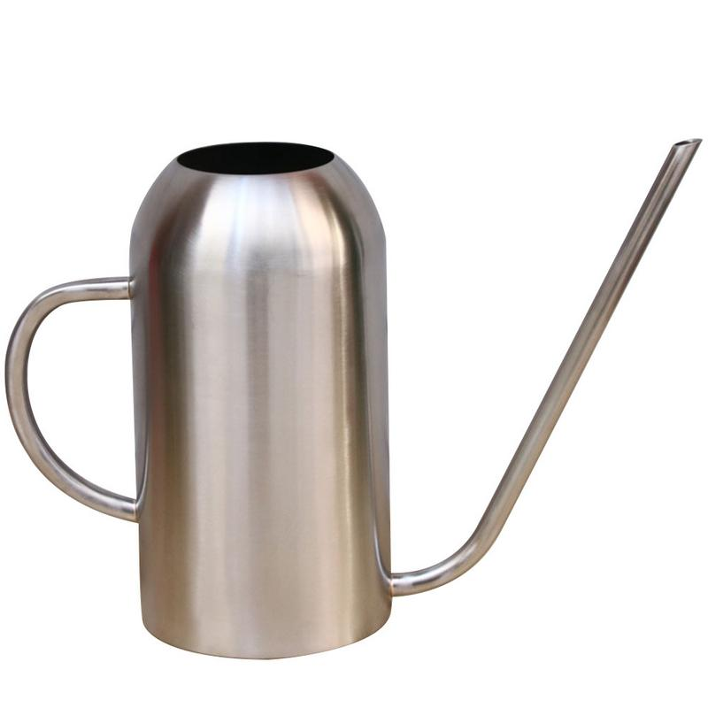 304 Stainless Steel Watering Pot 1.5L Extended Nozzle Watering Can Garden Supplies