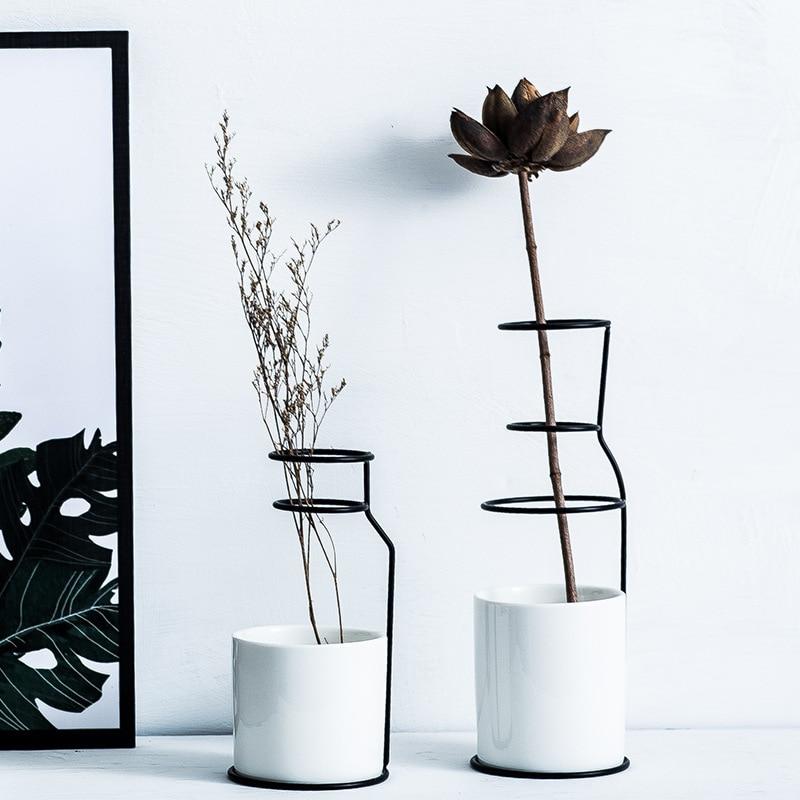 Скандинавское украшение, дизайн дома, гончарная керамика, ваза, скандинавский минималистичный стиль, аксессуары для дома, современный|Вазы|   | АлиЭкспресс