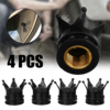 4pcs Black Crown Aluminum Car Wheel Tyre Tire Air Valve Stem Cap Dust Cover For Car Truck Bike Motorcycle ATV flash sale
