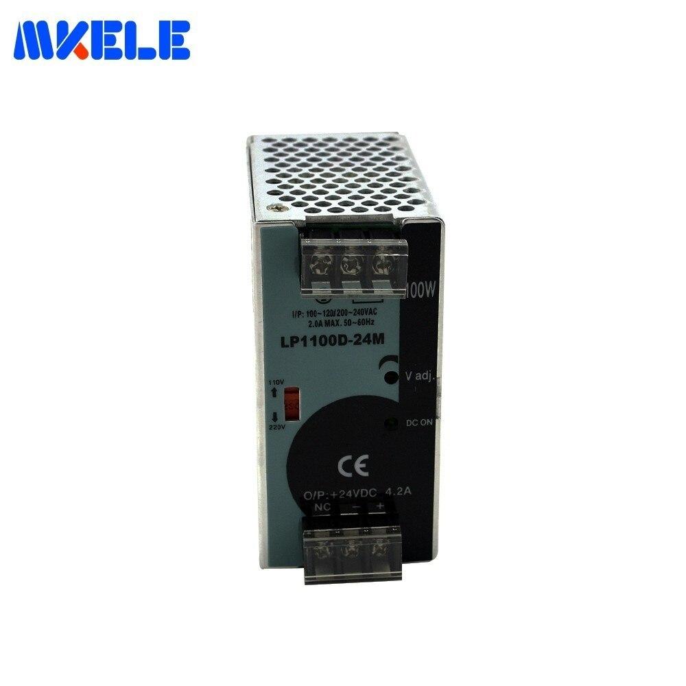 24VDC 100 W 4.2A Din Rail alimentation LP-100-24 Mini taille unique sortie Din Rail 24 V AC Dc alimentation à découpage pour pilote Led