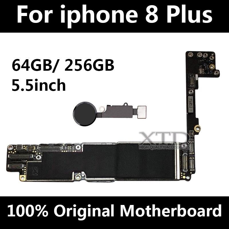 Débloqué Original pour iphone 8 Plus La Carte Mère avec Tactile ID, pour iphone 8 P Mobile téléphone carte mère avec Puces, 64 gb/256 gb