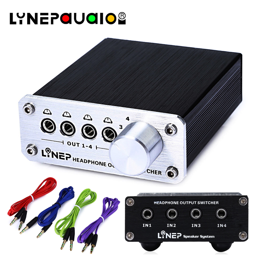 Audio Switcher 4 Input And 4 Output Switches 4 Sets Of Stereo Signal Switching Input 4 Sets Of Stereo Simultaneous Output