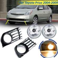12 В чехол для Toyota Prius 2006-2009 противотуманная фара комплект для освещения автомобиля передние фары с проводкой комплект галогенная противотуманная фара