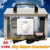Honme автомобиля переносной AC 110 В 20 г генератор озона дезинфекции дома машины Воздухоочистители + Сталь крышка США Plug