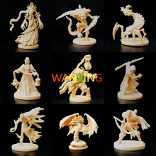1/72 Plastic Model Dragon And Dungeon Role Playing Board Game Scene DIY White Mold Toys For Children Free Shipping