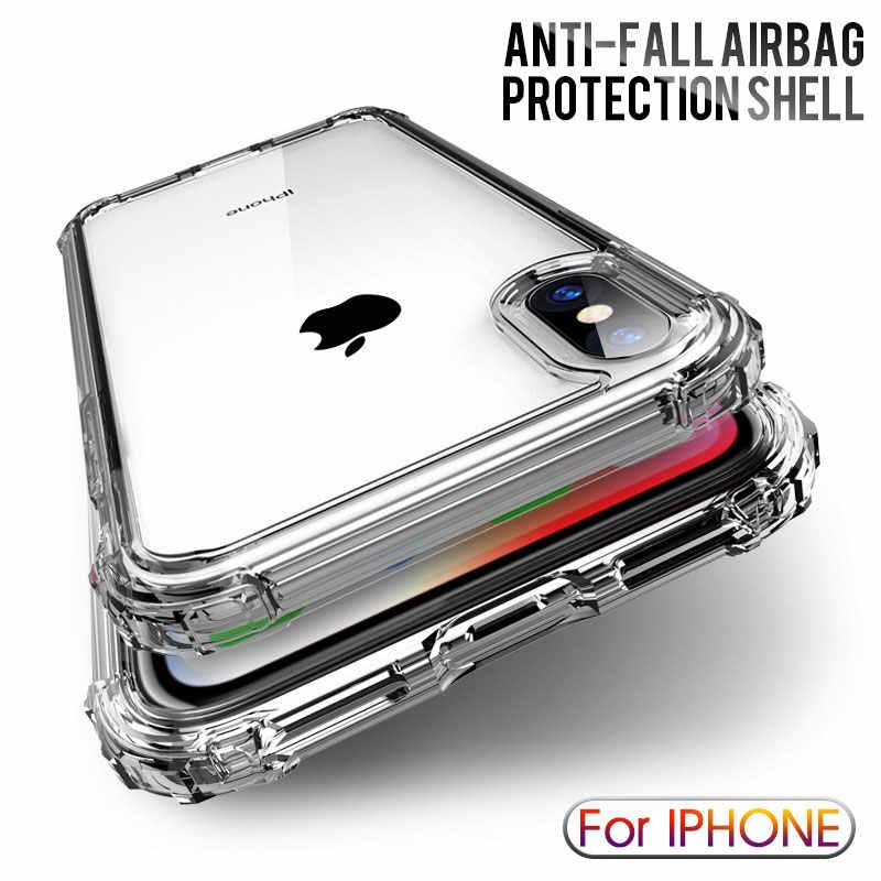 Cao Cấp Chống Sốc Ốp Silicon Trong Suốt Dành Cho iPhone X XS 11 Pro Max XR Mềm Điện Thoại Dùng Cho iPhone 6 7 8 Plus 11 Nắp Lưng