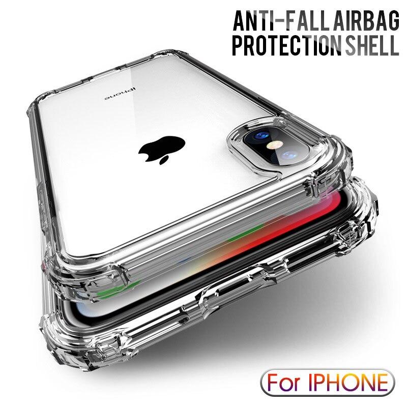 Роскошный противоударный прозрачный силиконовый чехол для iphone X XS 11 Pro Max XR, мягкий чехол для телефона iphone 6, 7, 8 Plus, 11, задняя крышка