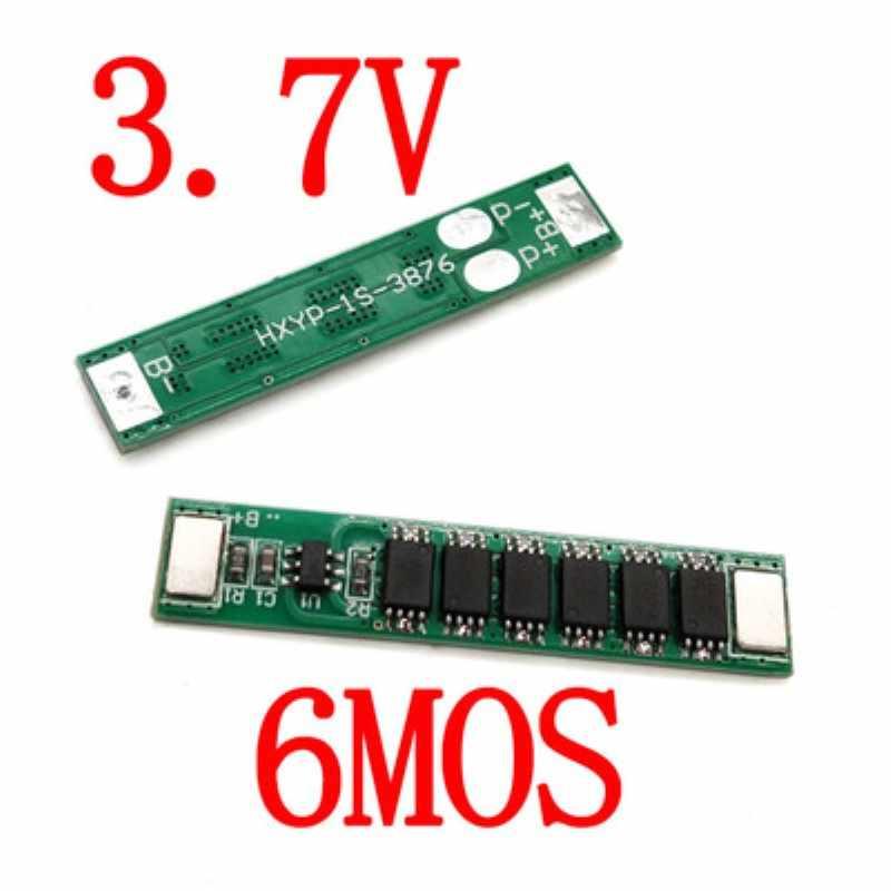 BMS 1s 6mos 18650 3 7 V литиевая батарея PCBA pcm 12A зарядный Модуль защита от перегрузки по