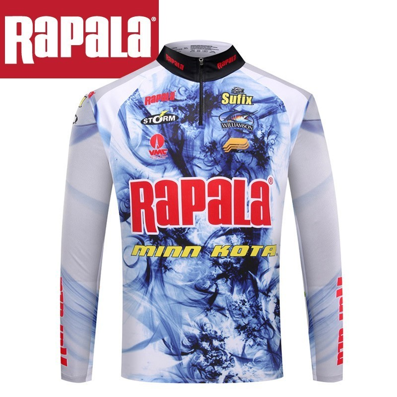 Rapala Brand Fishing Clothes Long Sleeve  Shirt  Quick Drying Breathable Anti UV Sun Protection Clothes Long Sleeve  Slim Fit