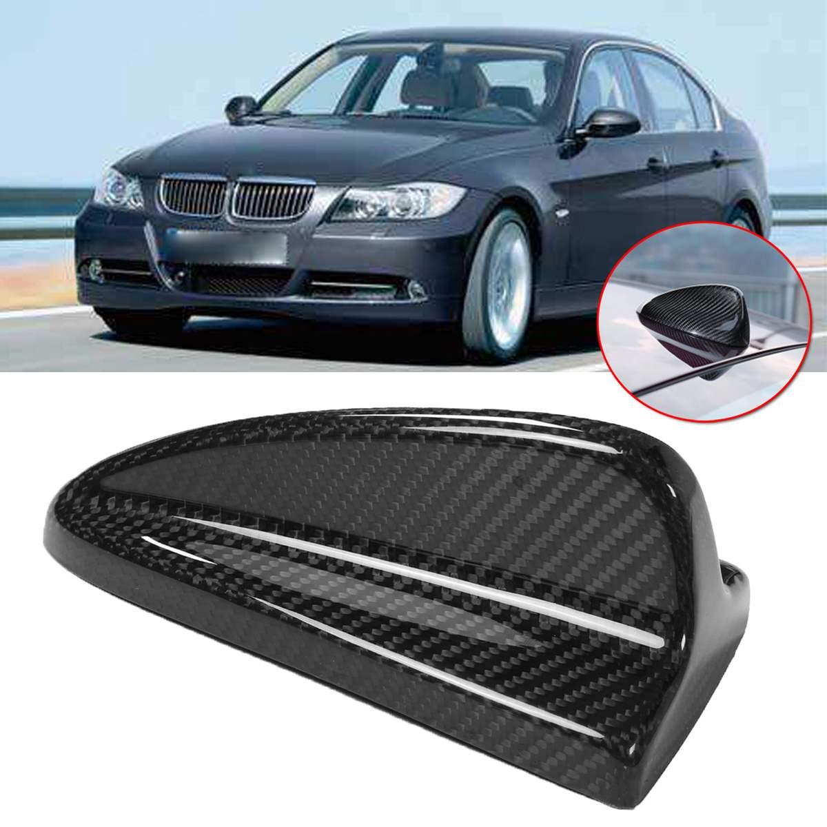 Couverture d'antenne d'aileron de requin de toit de voiture garniture en Fiber de carbone noire pour BMW série 3 E46 M3 E90 E92