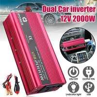 Hot Dual USB Inverter 12V 220V 6000W Peaks Modified Sine Wave 2000W Voltage Transformer Power Inverter Converter Car Charge USB