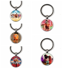 Invincible damage King glass keychain cartoon keychain handmade family photo private custom gift big head keychain все цены