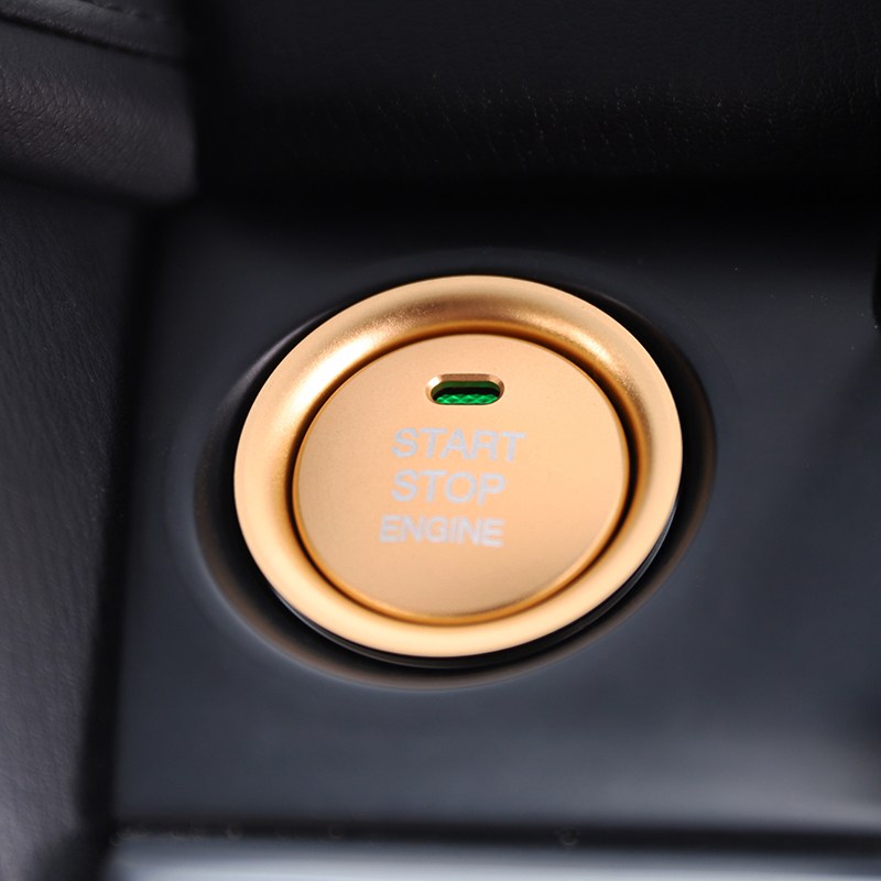Car Aluminum Alloy <font><b>Engine</b></font> Start Stop Button Ring <font><b>Cover</b></font> Protective Trim For <font><b>Mazda</b></font> <font><b>3</b></font> Axela CX-<font><b>3</b></font> CX-4 CX-5 image