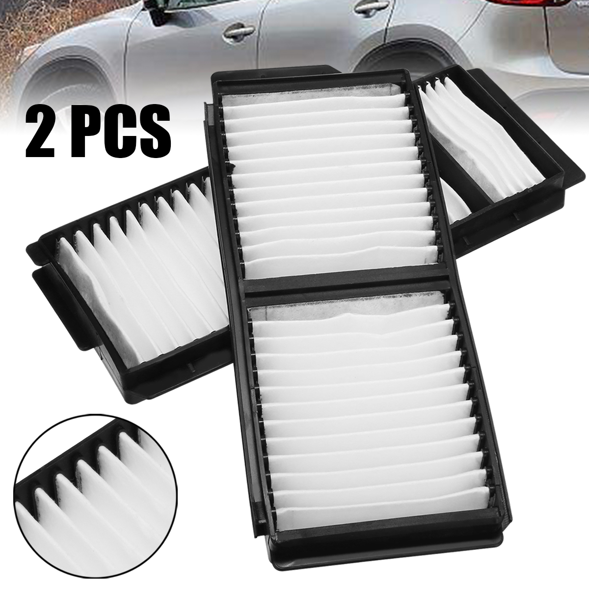 Automobiles Filters Set 2pcs White Cabin Air Filter For Mazda 3 5 OEM:BP4K-61-J6X