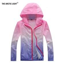 THE ARCTIC LIGHT Summer Ultraviolet-proof Trekking Jacket Trip Women Windbreaker Waterproof Thin Hooded Zipper Quick Drying Coat