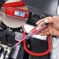 3 48V Universal LCD Digital Automotive Car Circuit Tester Auto Voltage Meter Power Probe Lamp Test Pen with 14inch Spring Cable
