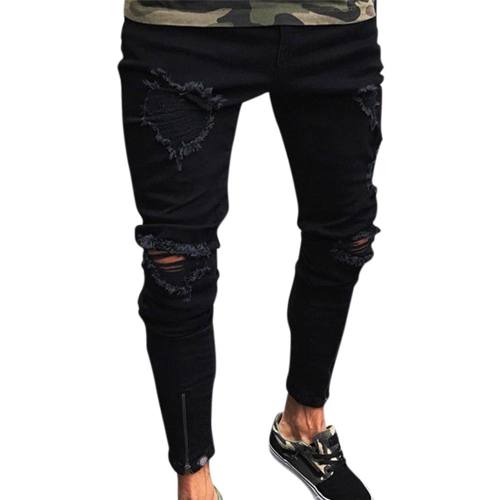 Fashion Men Ripped Skinny Jeans Stretch  2