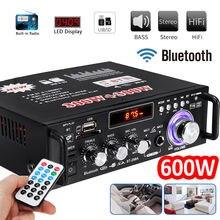 600 W дома автомобильный усилитель 110 V HIFI USB FM радио аудио усилители Bluetooth плеер сабвуфер стерео Динамик с удаленным Управление