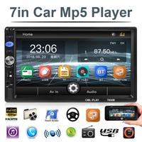 2 Din 7 Car Stereo MP5 Player FM Radio Bluetooth USB AUX Autoradio Head Unit Auto Central Multimidia Player with(out) Camera