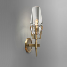 Copper Loft Nordic style American Industry Retro Art Glass Simple Personality Aisle Bedroom Machine Head Wall Lamp Archaize