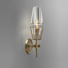 Kupfer Loft Nordic stil Amerikanischen Industrie Retro Kunst Glas Einfache Persönlichkeit Gang Schlafzimmer Maschine Kopf Wand Lampe Archaize