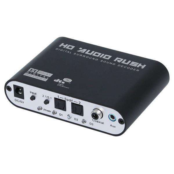 Leory Digital-analog-konverter Ac3 Optische Zu Stereo Surround Hd 5,1 Audio Decoder 2 Spdif Ports Hd Audio Rausch Kann Wiederholt Umgeformt Werden. Unterhaltungselektronik Digital-analog-wandler