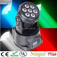 O wysokiej jasności 7X12 W Mini LED ruchoma mycia głowy Efect światło sceniczne/RGBW 4in1 DMX512 LED klub party KTV światła/Disco DJ oświetlenie w Oświetlenie sceniczne od Lampy i oświetlenie na