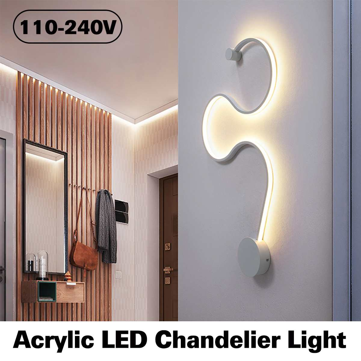 Modern Design Bending Acrylic LED Lamp Chandelier Light For Living Room Bedroom Indoor Ceiling Corridor Aisle Background LightsModern Design Bending Acrylic LED Lamp Chandelier Light For Living Room Bedroom Indoor Ceiling Corridor Aisle Background Lights