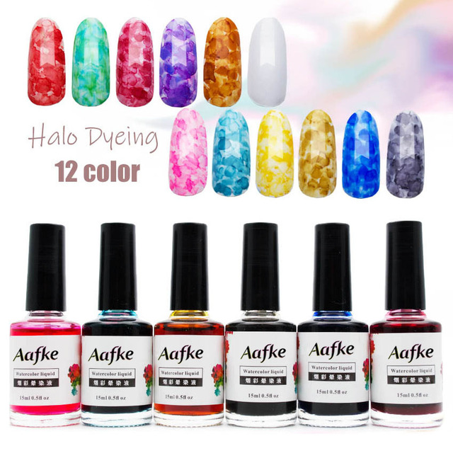 12 Colors Halo Dye Ink Gel Nail Polish 15ml Soak Off Gel 3D Natural Dry Gel  No UV Lacquer Varnish Nail Art Manicure ZJJ2017 4f96efd31542